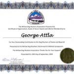 2009.10-Willow Dog Mushing Association recognition of Atttla
