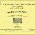 2011.04-Sampson Memorial Race Sportsmanship award